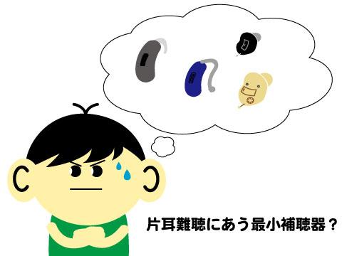 片耳難聴 最小 補聴器