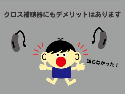 クロス補聴器 デメリット a1