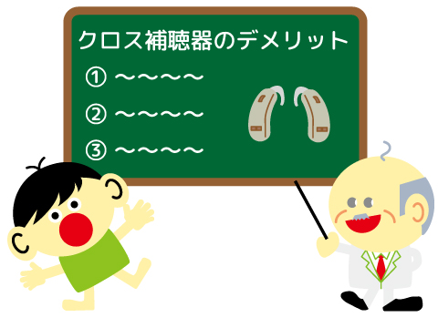 クロス補聴器 メリット クロス補聴器のデメリット