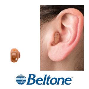 ベルトーン補聴器 アライ3 CIC 装着画像