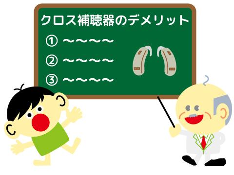 片耳難聴 クロス補聴器 デメリット